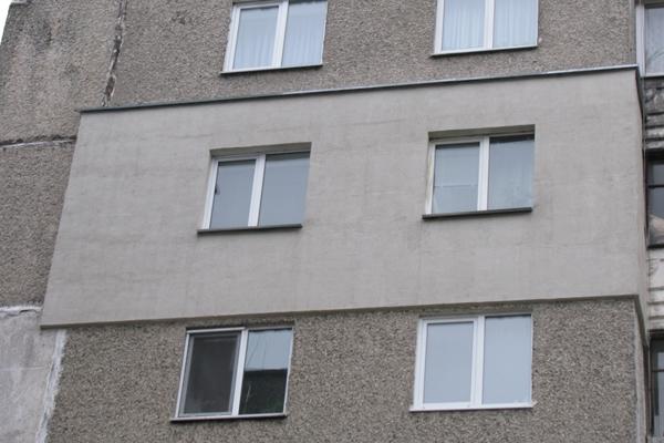 Штукатурка с деревом на фасаде